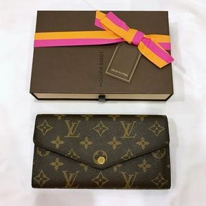 New Model LOUIS VUITTON Monogram Sarah Wallet Box